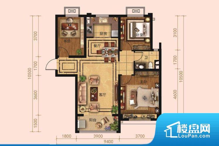 各个空间都很方正,方便后期家具的摆放。卫生间如没有窗子,可加管道通风,但是相对来说卫生间有窗户是好的情况,利于排湿,不会使湿气进到室内。厨房门对着客厅会有油烟方面的困扰,不过通风好也可以忽略。客厅、卧室、卫生间和厨房等主要功能间尺寸以及比例合适,方便采光、通风,后期居住方便。公摊高于15%且低于25%,整体得房率不算太高。