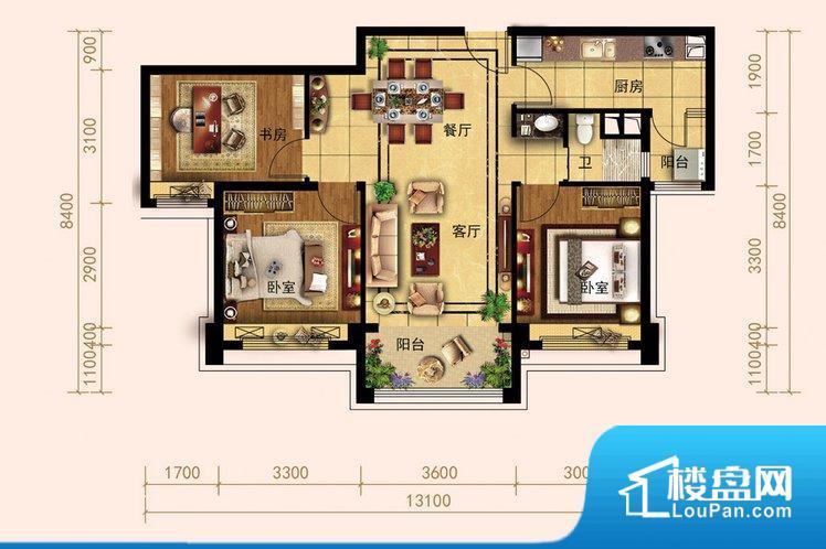各个空间都很方正,方便后期家具的摆放。全明通透的户型,居住舒适度较高。整个空间有充足的采光,这一点对于后期居住,尤其重要。厨房门朝向客厅,做饭时油烟对客厅影响较大。卧室作为较为重要的休息空间,尺寸合适,有利于主人更好的休息;客厅作为重要的会客空间,尺寸合适,能够保证主人会客需求。卫生间和厨房作为重要的功能区间,尺寸合适,能够很好的满足主人生活需求。公摊高于15%且低于25%,整体得房率不算太高。