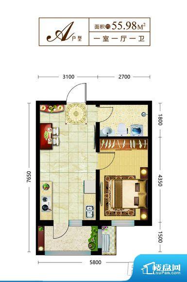 整个空间方正,拐角少,后期利用难度低,提升整个空间的利用率。整个空间不够通透,不利于空气流通,尤其是夏天会比较热。卫生间如没有窗子,可加管道通风,但是相对来说卫生间有窗户是好的情况,利于排湿,不会使湿气进到室内。卧室位置合理,能够保证足够安静,客厅的声音不会影响卧室的休息;卫生间位置合理,使用起来动线比较合理;厨房位于门口,方便使用和油烟的排出。客厅面宽太窄,空间上会感觉过于压抑和局促,采光有影响