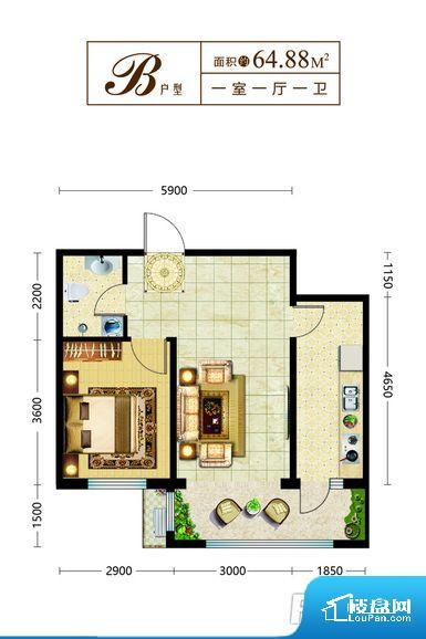整个空间方正,拐角少,后期利用难度低,提升整个空间的利用率。无穿堂风,室内空气无法对流,会导致过于潮湿或者干燥。卫生间无对外窗户,采光不好,不利于后期使用过程中的排风透气。厨卫等重要的使用较为频繁的空间布局合理,方便使用,并且能够保证整个空间的空气质量。卧室作为较为重要的休息空间,尺寸合适,有利于主人更好的休息;客厅作为重要的会客空间,尺寸合适,能够保证主人会客需求。卫生间和厨房作为重要的功能区间