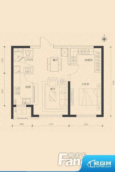 各个空间方正,后期空间利用率高。整个空间不够通透,不利于空气流通,尤其是夏天会比较热。卫生间如没有窗子,可加管道通风,但是相对来说卫生间有窗户是好的情况,利于排湿,不会使湿气进到室内。卧室位置合理,能够保证足够安静,客厅的声音不会影响卧室的休息;卫生间位置合理,使用起来动线比较合理;厨房位于门口,方便使用和油烟的排出。卧室作为较为重要的休息空间,尺寸合适,有利于主人更好的休息;客厅作为重要的会客空