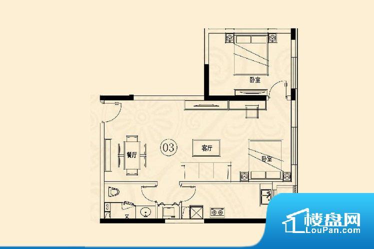 整个空间方正,拐角少,后期利用难度低,提升整个空间的利用率。不通风,南方会非常潮湿,特别是在雨季。而北方干燥会加重干燥的情况。卫生间无对外窗户,采光不好,不利于后期使用过程中的排风透气。厨房靠里,做饭产生油烟和噪音对整间房子影响较大。卧室作为较为重要的休息空间,尺寸合适,有利于主人更好的休息;客厅作为重要的会客空间,尺寸合适,能够保证主人会客需求。卫生间和厨房作为重要的功能区间,尺寸合适,能够很好