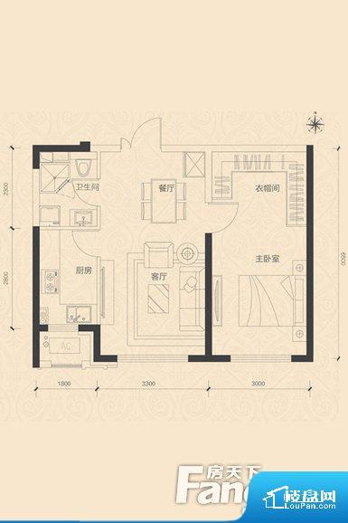 各个空间都很方正,方便后期家具的摆放。无穿堂风,室内空气无法对流,会导致过于潮湿或者干燥。无对外窗户,通风采光较差,卫生间湿气会加重,不利于身体健康。整个户型空间布局合理,真正做到了干湿分离、动静分离,方便后期生活。客厅、卧室、卫生间和厨房等主要功能间尺寸以及比例合适,方便采光、通风,后期居住方便。公摊相对合理,一般房子公摊基本都在此范畴。日常使用基本满足。