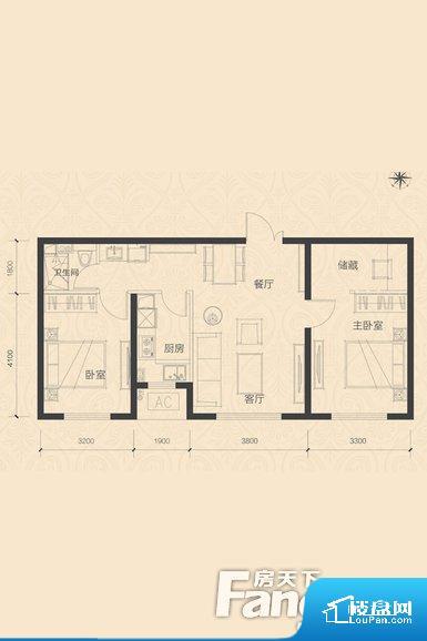 各个空间都很方正,方便后期家具的摆放。无穿堂风,室内空气无法对流,会导致过于潮湿或者干燥。卫生间无对外窗户,采光不好,不利于后期使用过程中的排风透气。卧室位置合理,能够保证足够安静,客厅的声音不会影响卧室的休息;卫生间位置合理,使用起来动线比较合理;厨房位于门口,方便使用和油烟的排出。客厅、卧室、卫生间和厨房等主要功能间尺寸以及比例合适,方便采光、通风,后期居住方便。公摊相对合理,一般房子公摊基本