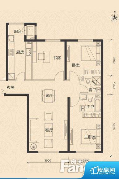 各个空间都很方正,方便后期家具的摆放。卫生间无对外窗户,采光不好,不利于后期使用过程中的排风透气。整个户型空间布局合理,真正做到了干湿分离、动静分离,方便后期生活。卧室作为较为重要的休息空间,尺寸合适,有利于主人更好的休息;客厅作为重要的会客空间,尺寸合适,能够保证主人会客需求。卫生间和厨房作为重要的功能区间,尺寸合适,能够很好的满足主人生活需求。公摊相对合理,一般房子公摊基本都在此范畴。日常使用