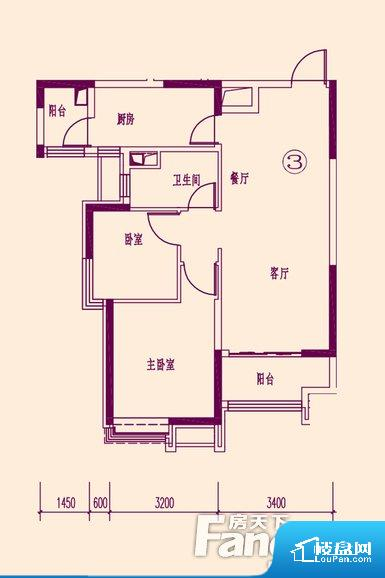 各个空间方正,后期空间利用率高。不通风,南方会非常潮湿,特别是在雨季。而北方干燥会加重干燥的情况。卧室位置合理,能够保证足够安静,客厅的声音不会影响卧室的休息;卫生间位置合理,使用起来动线比较合理;厨房位于门口,方便使用和油烟的排出。各个功能区间面积大小都比较合理,后期使用起来比较方便,居住舒适度高。公摊相对合理,一般房子公摊基本都在此范畴。日常使用基本满足。