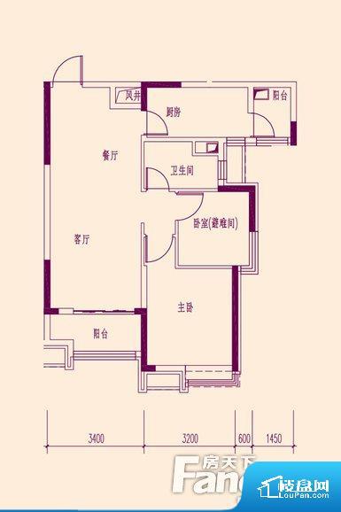 整个空间方正,拐角少,后期利用难度低,提升整个空间的利用率。无穿堂风,室内空气无法对流,会导致过于潮湿或者干燥。卧室位置合理,能够保证足够安静,客厅的声音不会影响卧室的休息;卫生间位置合理,使用起来动线比较合理;厨房位于门口,方便使用和油烟的排出。客厅、卧室、卫生间和厨房等主要功能间尺寸以及比例合适,方便采光、通风,后期居住方便。公摊相对合理,一般房子公摊基本都在此范畴。日常使用基本满足。