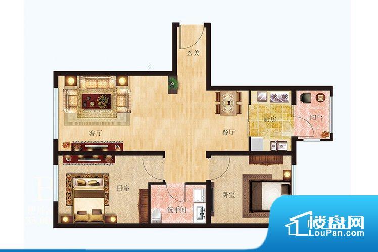 整个空间方正,拐角少,后期利用难度低,提升整个空间的利用率。卫生间无对外窗户,采光不好,不利于后期使用过程中的排风透气。厨房较深,经过客厅会造成客厅有些油烟污染空气,而且在客厅作息的人易被噪音打搅,整体感觉不够安静。客厅、卧室、卫生间和厨房等主要功能间尺寸以及比例合适,方便采光、通风,后期居住方便。公摊相对合理,一般房子公摊基本都在此范畴。日常使用基本满足。