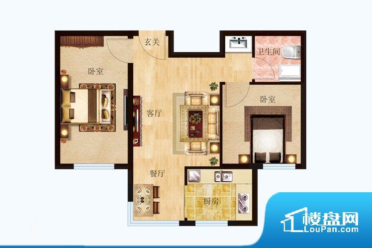 各个空间方正,后期空间利用率高。无对外窗户,通风采光较差,卫生间湿气会加重,不利于身体健康。厨房在整个空间比较深的位置,一方面使用不便,另一方面使用时油烟对整个家里的空气影响较大卧室作为较为重要的休息空间,尺寸合适,有利于主人更好的休息;客厅作为重要的会客空间,尺寸合适,能够保证主人会客需求。