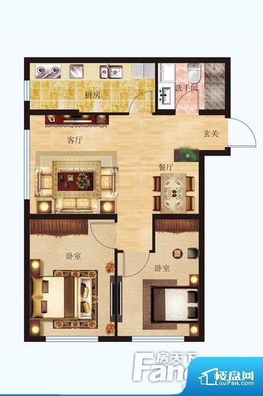 各个空间方正,后期空间利用率高。客厅、卧室、卫生间和厨房等主要功能间尺寸以及比例合适,方便采光、通风,后期居住方便。