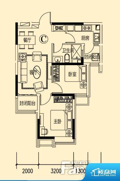 各个空间方正,后期空间利用率高。整个空间不够通透,不利于空气流通,尤其是夏天会比较热。卧室位置合理,能够保证足够安静,客厅的声音不会影响卧室的休息;卫生间位置合理,使用起来动线比较合理;厨房位于门口,方便使用和油烟的排出。卧室作为较为重要的休息空间,尺寸合适,有利于主人更好的休息;客厅作为重要的会客空间,尺寸合适,能够保证主人会客需求。卫生间和厨房作为重要的功能区间,尺寸合适,能够很好的满足主人生
