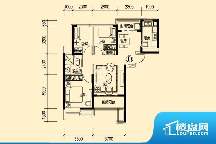 各个空间方正,后期空间利用率高。非南向或东向,采光不足,西面下午为西晒,夏天时西晒阳光比较热,室内温度变高。厨卫等重要的使用较为频繁的空间布局合理,方便使用,并且能够保证整个空间的空气质量。卧室作为较为重要的休息空间,尺寸合适,有利于主人更好的休息;客厅作为重要的会客空间,尺寸合适,能够保证主人会客需求。卫生间和厨房作为重要的功能区间,尺寸合适,能够很好的满足主人生活需求。公摊相对合理,一般房子公