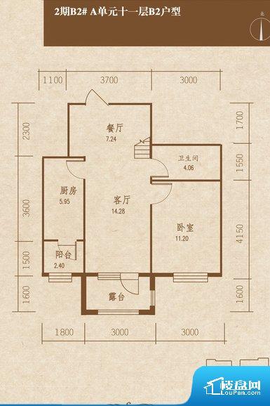 整个空间方正,拐角少,后期利用难度低,提升整个空间的利用率。厨卫等重要的使用较为频繁的空间布局合理,方便使用,并且能够保证整个空间的空气质量。
