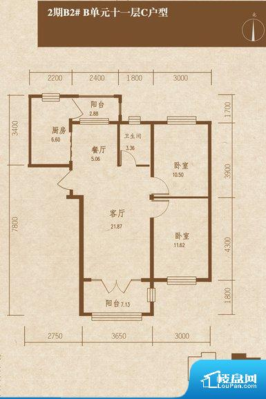 各个空间方正,后期空间利用率高。整个空间采光很好,主卧和客厅均能够保证很好的采光;并且能真正做到全明通透,整个空间空气好。客厅、卧室、卫生间和厨房等主要功能间尺寸以及比例合适,方便采光、通风,后期居住方便。