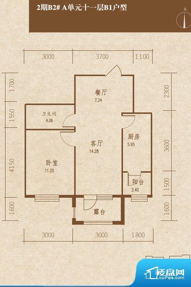 整个空间方正,拐角少,后期利用难度低,提升整个空间的利用率。整个户型空间布局合理,真正做到了干湿分离、动静分离,方便后期生活。卧室作为较为重要的休息空间,尺寸合适,有利于主人更好的休息;客厅作为重要的会客空间,尺寸合适,能够保证主人会客需求。卫生间和厨房作为重要的功能区间,尺寸合适,能够很好的满足主人生活需求。