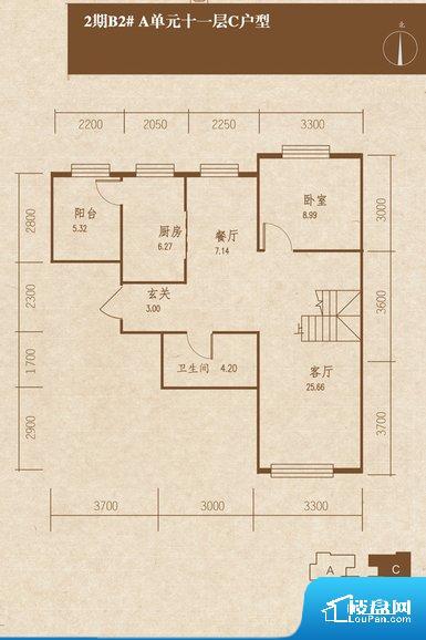 各个空间都很方正,方便后期家具的摆放。客厅、卧室、卫生间和厨房等主要功能间尺寸以及比例合适,方便采光、通风,后期居住方便。
