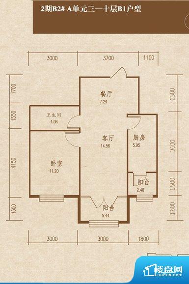 厨卫等重要的使用较为频繁的空间布局合理,方便使用,并且能够保证整个空间的空气质量。卧室作为较为重要的休息空间,尺寸合适,有利于主人更好的休息;客厅作为重要的会客空间,尺寸合适,能够保证主人会客需求。卫生间和厨房作为重要的功能区间,尺寸合适,能够很好的满足主人生活需求。