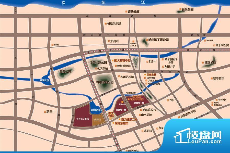 玫瑰湾三期位置图