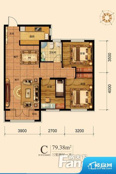 各个空间都很方正,方便后期家具的摆放。全明户型,每一个空间都带有窗户,保证后期居住时能够充分采光和透气;通透户型,保证空气能够流通起来,空气质量较好;采光较好,保证居住舒适度。卧室位置合理,能够保证足够安静,客厅的声音不会影响卧室的休息;卫生间位置合理,使用起来动线比较合理;厨房位于门口,方便使用和油烟的排出。各个功能区间面积大小都比较合理,后期使用起来比较方便,居住舒适度高。