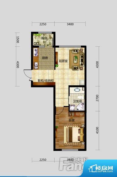 各个空间都很方正,方便后期家具的摆放。卫生间如没有窗子,可加管道通风,但是相对来说卫生间有窗户是最好的情况,利于排湿,不会使湿气进到室内。卧室位置合理,能够保证足够安静,客厅的声音不会影响卧室的休息;卫生间位置合理,使用起来动线比较合理;厨房位于门口,方便使用和油烟的排出。各个功能区间面积大小都比较合理,后期使用起来比较方便,居住舒适度高。公摊相对合理,一般房子公摊基本都在此范畴。日常使用基本满足