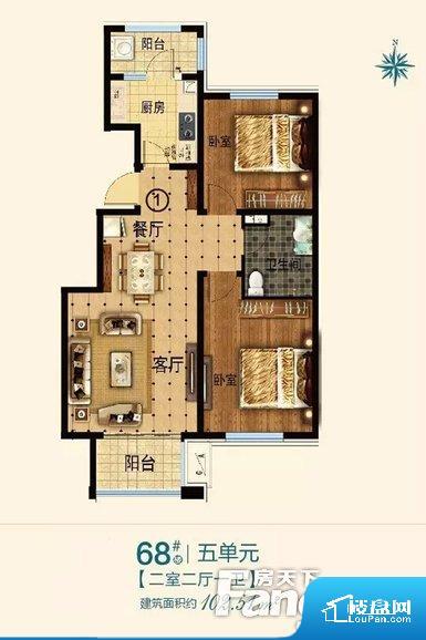 各个空间都很方正,方便后期家具的摆放。卫生间如没有窗子,可加管道通风,但是相对来说卫生间有窗户是好的情况,利于排湿,不会使湿气进到室内。卧室位置合理,能够保证足够安静,客厅的声音不会影响卧室的休息;卫生间位置合理,使用起来动线比较合理;厨房位于门口,方便使用和油烟的排出。客厅、卧室、卫生间和厨房等主要功能间尺寸以及比例合适,方便采光、通风,后期居住方便。公摊相对合理,一般房子公摊基本都在此范畴。日