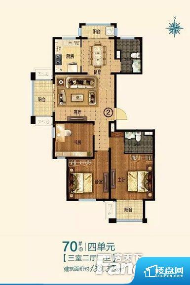 整个空间方正,拐角少,后期利用难度低,提升整个空间的利用率。整个空间采光很好,主卧和客厅均能够保证很好的采光;并且能真正做到全明通透,整个空间空气好。厨房较深,经过客厅会造成客厅有些油烟污染空气,而且在客厅作息的人易被噪音打搅,整体感觉不够安静。卧室作为较为重要的休息空间,尺寸合适,有利于主人更好的休息;客厅作为重要的会客空间,尺寸合适,能够保证主人会客需求。卫生间和厨房作为重要的功能区间,尺寸合
