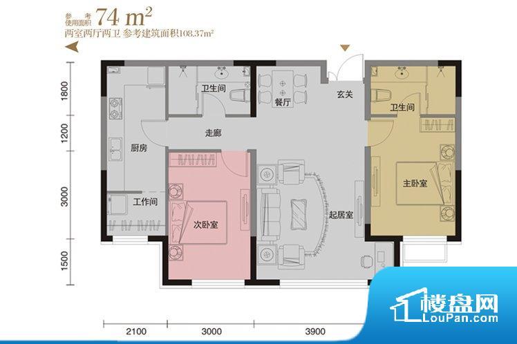 各个空间方正,后期空间利用率高。无穿堂风,室内空气无法对流,会导致过于潮湿或者干燥。无对外窗户,通风采光较差,卫生间湿气会加重,不利于身体健康。卧室作为较为重要的休息空间,尺寸合适,有利于主人更好的休息;客厅作为重要的会客空间,尺寸合适,能够保证主人会客需求。卫生间和厨房作为重要的功能区间,尺寸合适,能够很好的满足主人生活需求。