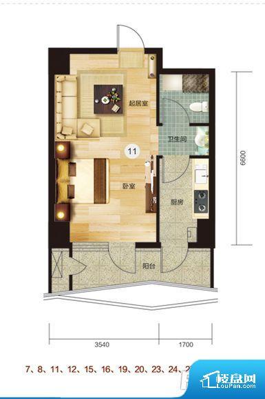 各个空间都很方正,方便后期家具的摆放。整个户型空间布局合理,真正做到了干湿分离、动静分离,方便后期生活。