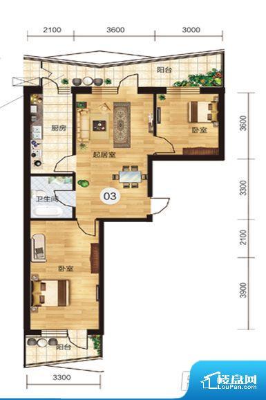 各个空间方正,后期空间利用率高。卧室作为较为重要的休息空间,尺寸合适,有利于主人更好的休息;客厅作为重要的会客空间,尺寸合适,能够保证主人会客需求。卫生间和厨房作为重要的功能区间,尺寸合适,能够很好的满足主人生活需求。