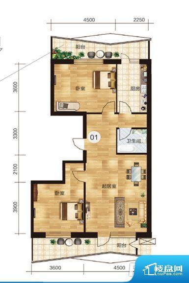 次重要空间不够方正,家具不好摆放,而且容易浪费空间。卫生间无对外窗户,采光不好,不利于后期使用过程中的排风透气。厨卫等重要的使用较为频繁的空间布局合理,方便使用,并且能够保证整个空间的空气质量。