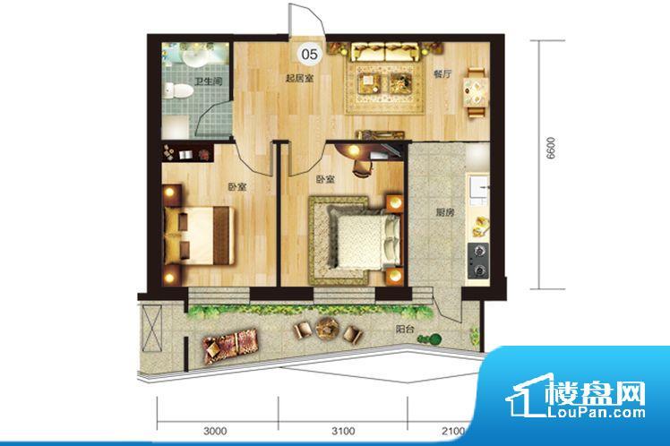 各个空间方正,后期空间利用率高。卧室位置合理,能够保证足够安静,客厅的声音不会影响卧室的休息;卫生间位置合理,使用起来动线比较合理;厨房位于门口,方便使用和油烟的排出。各个功能区间面积大小都比较合理,后期使用起来比较方便,居住舒适度高。