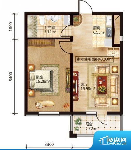 各个空间方正,后期空间利用率高。卧室位置合理,能够保证足够安静,客厅的声音不会影响卧室的休息;卫生间位置合理,使用起来动线比较合理;厨房位于门口,方便使用和油烟的排出。卧室作为较为重要的休息空间,尺寸合适,有利于主人更好的休息;