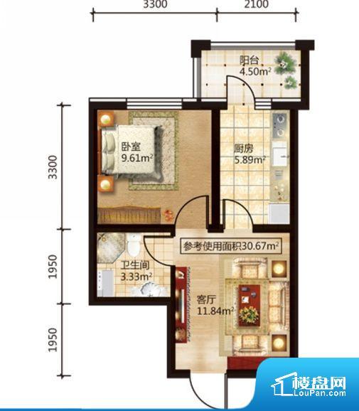 整个空间方正,拐角少,后期利用难度低,提升整个空间的利用率。无穿堂风,室内空气无法对流,会导致过于潮湿或者干燥。无对外窗户,通风采光较差,卫生间湿气会加重,不利于身体健康。客厅、卧室、卫生间和厨房等主要功能间尺寸以及比例合适,方便采光、通风,后期居住方便。