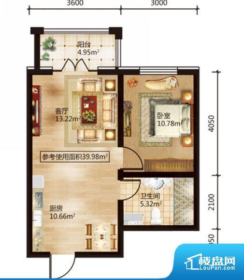 整个空间方正,拐角少,后期利用难度低,提升整个空间的利用率。卧室位置合理,能够保证足够安静,客厅的声音不会影响卧室的休息;卫生间位置合理,使用起来动线比较合理;厨房位于门口,方便使用和油烟的排出。