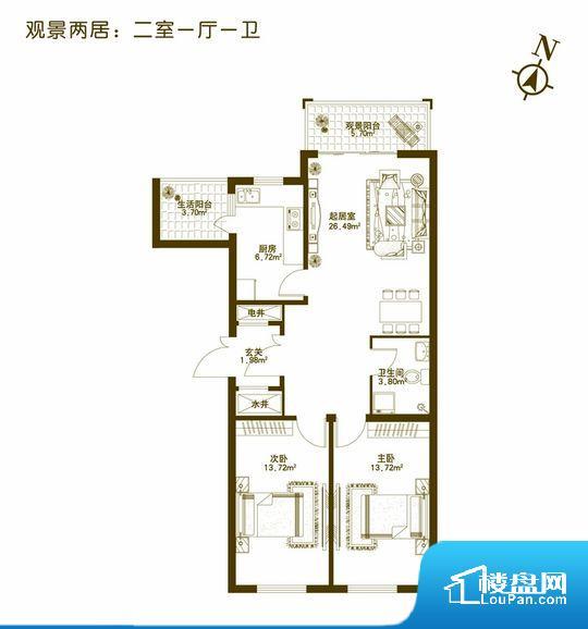 各个空间都很方正,方便后期家具的摆放。无对外窗户,通风采光较差,卫生间湿气会加重,不利于身体健康。厨房门朝向客厅,做饭时油烟对客厅影响较大。卧室作为较为重要的休息空间,尺寸合适,有利于主人更好的休息;客厅作为重要的会客空间,尺寸合适,能够保证主人会客需求。卫生间和厨房作为重要的功能区间,尺寸合适,能够很好的满足主人生活需求。公摊相对合理,一般房子公摊基本都在此范畴。日常使用基本满足。