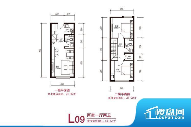 各个空间方正,后期空间利用率高。卫生间无对外窗户,采光不好,不利于后期使用过程中的排风透气。整个户型空间布局合理,真正做到了干湿分离、动静分离,方便后期生活。卧室作为较为重要的休息空间,尺寸合适,有利于主人更好的休息;客厅作为重要的会客空间,尺寸合适,能够保证主人会客需求。卫生间和厨房作为重要的功能区间,尺寸合适,能够很好的满足主人生活需求。公摊高于15%且低于25%,整体得房率不算太高。