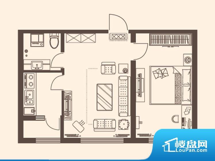 整个空间方正,拐角少,后期利用难度低,提升整个空间的利用率。整个空间不够通透,不利于空气流通,尤其是夏天会比较热。无对外窗户,通风采光较差,卫生间湿气会加重,不利于身体健康。厨卫等重要的使用较为频繁的空间布局合理,方便使用,并且能够保证整个空间的空气质量。各个功能区间面积大小都比较合理,后期使用起来比较方便,居住舒适度高。