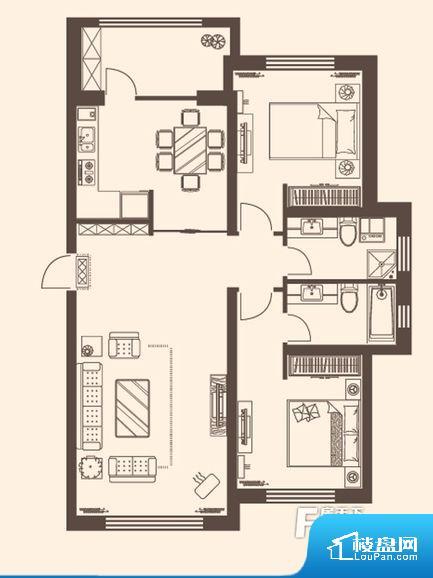 整个空间方正,拐角少,后期利用难度低,提升整个空间的利用率。整个空间采光很好,主卧和客厅均能够保证很好的采光;并且能真正做到全明通透,整个空间空气好。卧室位置合理,能够保证足够安静,客厅的声音不会影响卧室的休息;卫生间位置合理,使用起来动线比较合理;厨房位于门口,方便使用和油烟的排出。