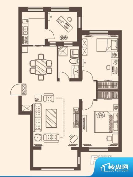 各个空间都很方正,方便后期家具的摆放。整个空间采光很好,主卧和客厅均能够保证很好的采光;并且能真正做到全明通透,整个空间空气好。厨卫等重要的使用较为频繁的空间布局合理,方便使用,并且能够保证整个空间的空气质量。