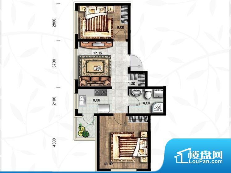 各个空间都很方正,方便后期家具的摆放。无穿堂风,室内空气无法对流,会导致过于潮湿或者干燥。卫生间无对外窗户,采光不好,不利于后期使用过程中的排风透气。卧室位置合理,能够保证足够安静,客厅的声音不会影响卧室的休息;卫生间位置合理,使用起来动线比较合理;厨房位于门口,方便使用和油烟的排出。各个功能区间面积大小都比较合理,后期使用起来比较方便,居住舒适度高。公摊相对合理,一般房子公摊基本都在此范畴。日常
