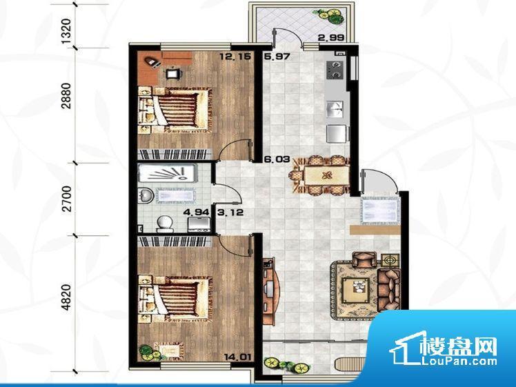 各个空间都很方正,方便后期家具的摆放。卫生间如没有窗子,可加管道通风,但是相对来说卫生间有窗户是好的情况,利于排湿,不会使湿气进到室内。厨房门对着客厅会有油烟方面的困扰,不过通风好也可以忽略。各个功能区间面积大小都比较合理,后期使用起来比较方便,居住舒适度高。公摊相对合理,一般房子公摊基本都在此范畴。日常使用基本满足。