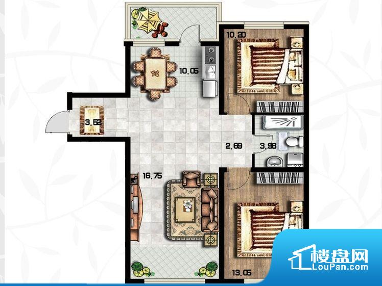 整个空间方正,拐角少,后期利用难度低,提升整个空间的利用率。卫生间无对外窗户,采光不好,不利于后期使用过程中的排风透气。卧室是休息的地方,需要安静,如果距离客厅和餐厅会有噪音,影响休息。时间长,主人容易神经衰弱。客厅、卧室、卫生间和厨房等主要功能间尺寸以及比例合适,方便采光、通风,后期居住方便。公摊高于15%且低于25%,整体得房率不算太高。