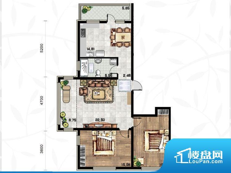 各个空间方正,后期空间利用率高。全明通透的户型,居住舒适度较高。整个空间有充足的采光,这一点对于后期居住,尤其重要。主人去卫生间要传堂入室,整个动线过长,使用起来不方便。卧室作为较为重要的休息空间,尺寸合适,有利于主人更好的休息;客厅作为重要的会客空间,尺寸合适,能够保证主人会客需求。卫生间和厨房作为重要的功能区间,尺寸合适,能够很好的满足主人生活需求。公摊相对合理,一般房子公摊基本都在此范畴。日