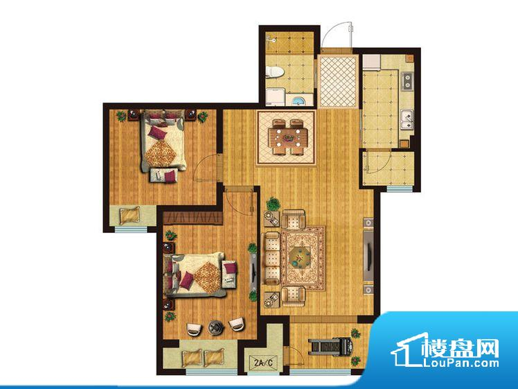 各个空间方正,后期空间利用率高。整个户型空间布局合理,真正做到了干湿分离、动静分离,方便后期生活。客厅、卧室、卫生间和厨房等主要功能间尺寸以及比例合适,方便采光、通风,后期居住方便。