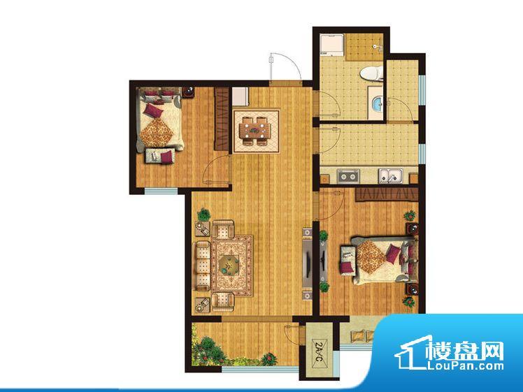 整个空间方正,拐角少,后期利用难度低,提升整个空间的利用率。卧室门朝向比较吵闹的区域,不利于主人休息。卧室作为较为重要的休息空间,尺寸合适,有利于主人更好的休息;客厅作为重要的会客空间,尺寸合适,能够保证主人会客需求。卫生间和厨房作为重要的功能区间,尺寸合适,能够很好的满足主人生活需求。