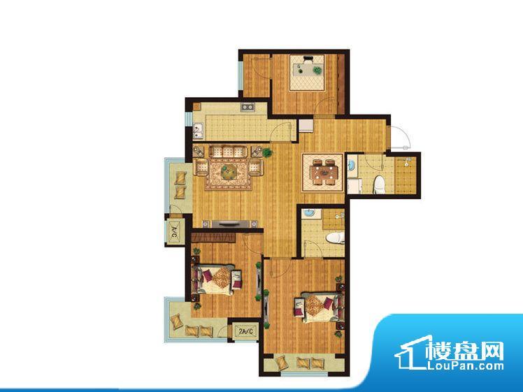 各个空间都很方正,方便后期家具的摆放。卧室位置合理,能够保证足够安静,客厅的声音不会影响卧室的休息;卫生间位置合理,使用起来动线比较合理;厨房位于门口,方便使用和油烟的排出。各个功能区间面积大小都比较合理,后期使用起来比较方便,居住舒适度高。