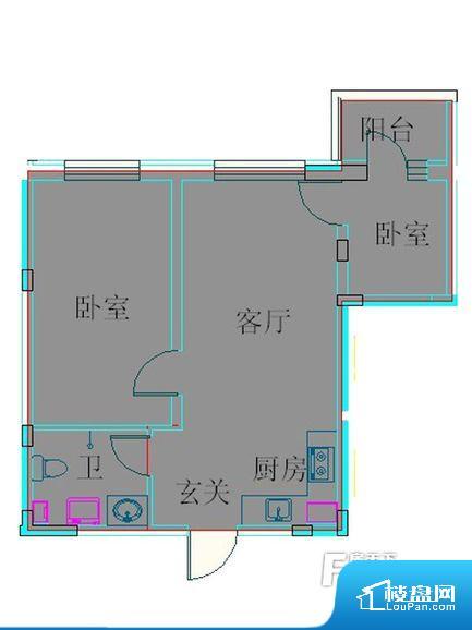 各个空间都很方正,方便后期家具的摆放。卧室是休息的地方,需要安静,厨房门对着客厅会有油烟方面的困扰,不过通风好也可以忽略。客厅、卧室、卫生间和厨房等主要功能间尺寸以及比例合适,方便采光、通风,后期居住方便。公摊相对合理,一般房子公摊基本都在此范畴。日常使用基本满足。