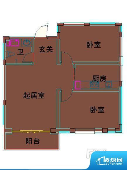 各个空间都很方正,方便后期家具的摆放。卫生间如没有窗子,可加管道通风,但是相对来说卫生间有窗户是好的情况,利于排湿,不会使湿气进到室内。卧室作为较为重要的休息空间,尺寸合适,有利于主人更好的休息;客厅作为重要的会客空间,尺寸合适,能够保证主人会客需求。卫生间和厨房作为重要的功能区间,尺寸合适,能够很好的满足主人生活需求。公摊相对合理,一般房子公摊基本都在此范畴。日常使用基本满足。