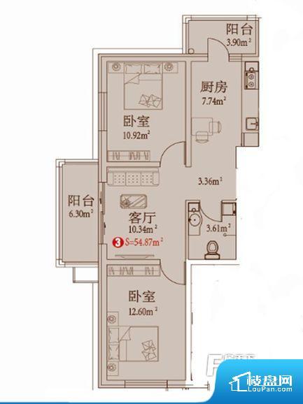 各个空间都很方正,方便后期家具的摆放。卫生间无对外窗户,采光不好,不利于后期使用过程中的排风透气。卧室门朝向客厅,外人可以一目了然的看到卧室,私密性较差。各个功能区间面积大小都比较合理,后期使用起来比较方便,居住舒适度高。公摊高于15%且低于25%,整体得房率不算太高。