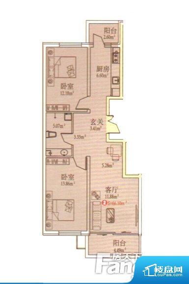 各个空间都很方正,方便后期家具的摆放。卫生间无对外窗户,采光不好,不利于后期使用过程中的排风透气。卧室位置合理,能够保证足够安静,客厅的声音不会影响卧室的休息;卫生间位置合理,使用起来动线比较合理;厨房位于门口,方便使用和油烟的排出。各个功能区间面积大小都比较合理,后期使用起来比较方便,居住舒适度高。公摊相对合理,一般房子公摊基本都在此范畴。日常使用基本满足。